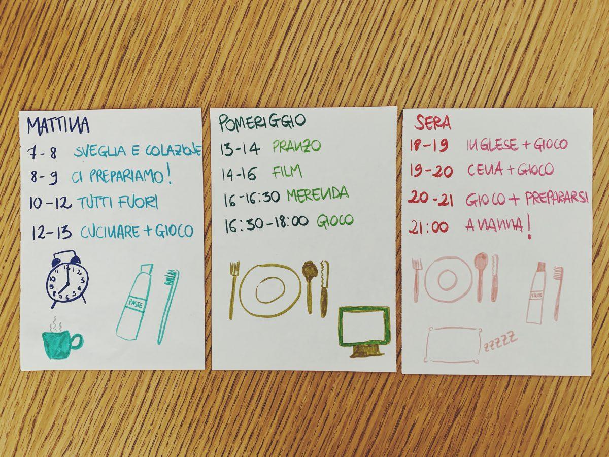 tabellone delle attività schedule